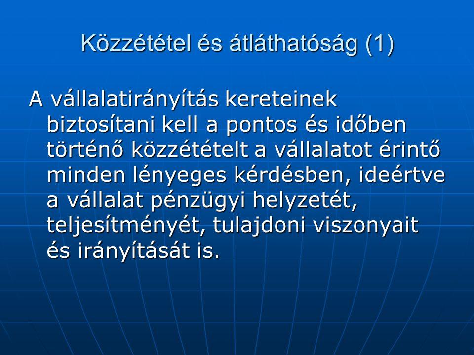 Közzététel és átláthatóság (1)