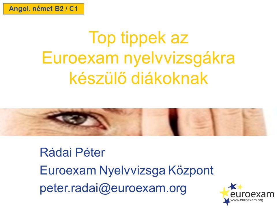 Euroexam nyelvvizsgákra