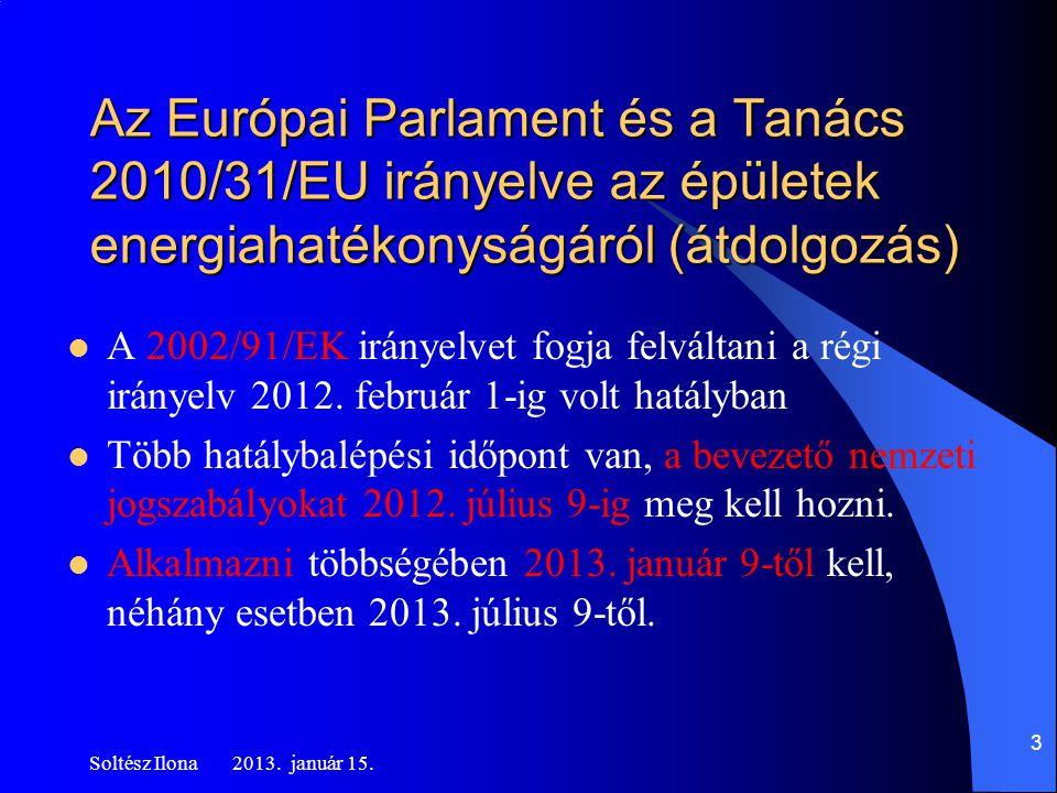 Az Európai Parlament és a Tanács 2010/31/EU irányelve az épületek energiahatékonyságáról (átdolgozás)