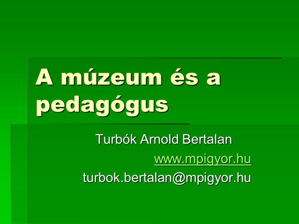 Turbók Arnold Bertalan www.mpigyor.hu turbok.bertalan@mpigyor.hu