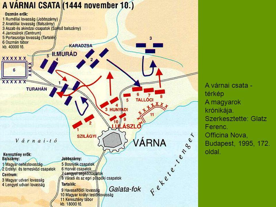 A várnai csata - térkép A magyarok krónikája