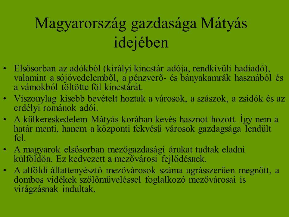 Magyarország gazdasága Mátyás idejében