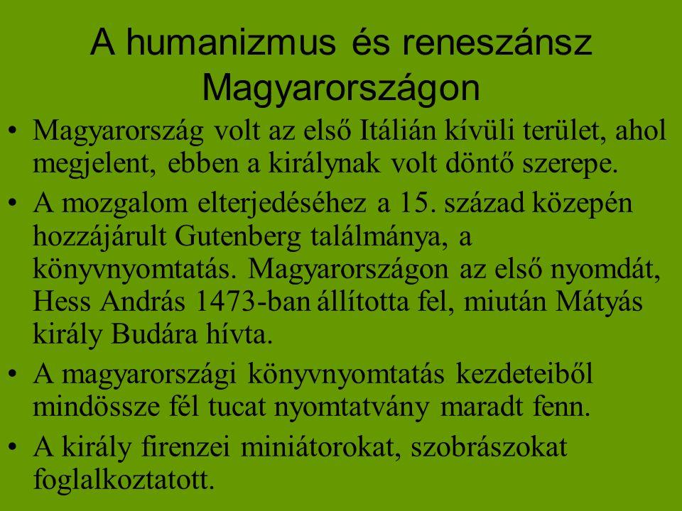 A humanizmus és reneszánsz Magyarországon