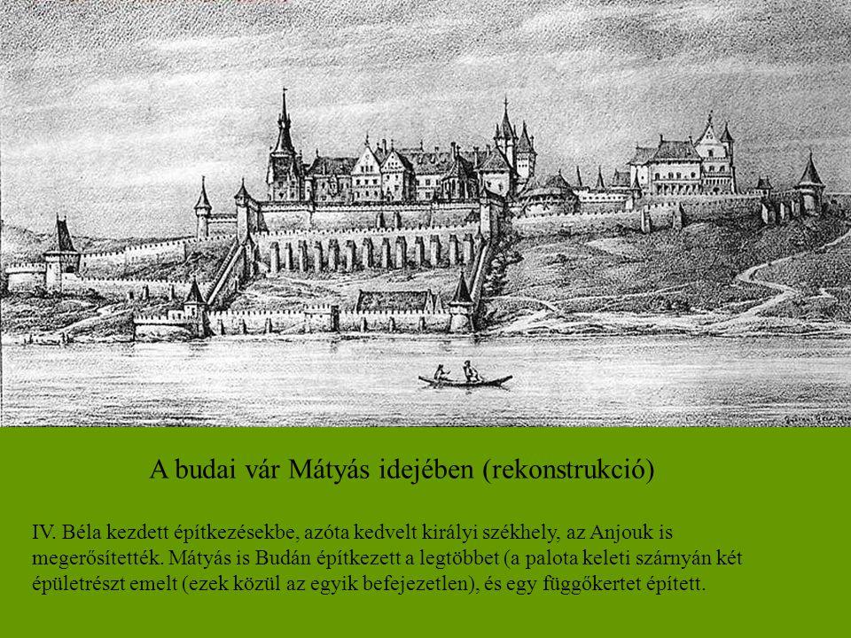A budai vár Mátyás idejében (rekonstrukció)