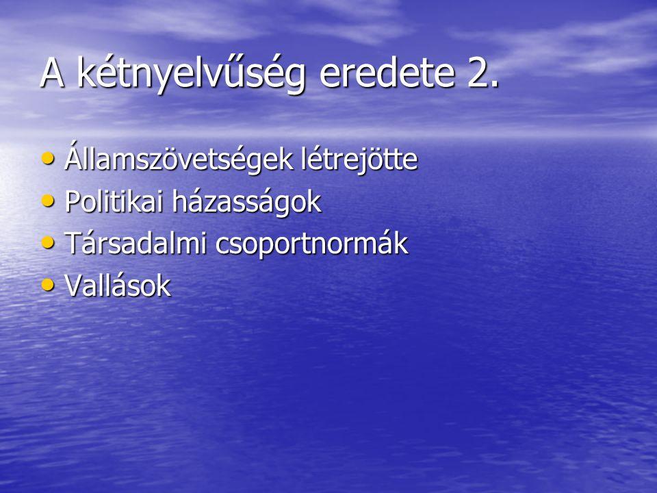 A kétnyelvűség eredete 2.