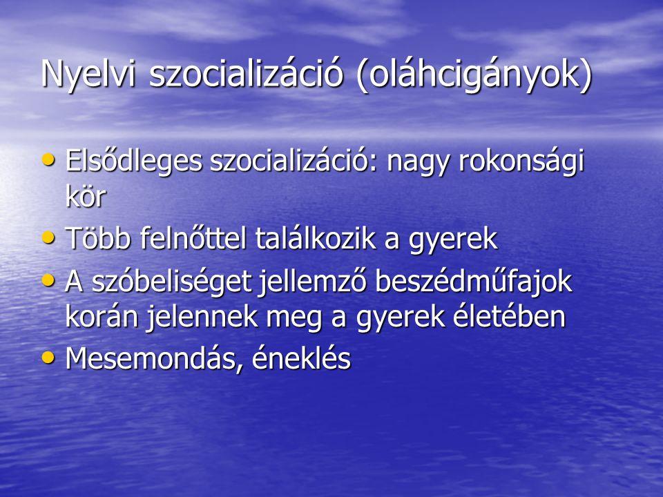 Nyelvi szocializáció (oláhcigányok)