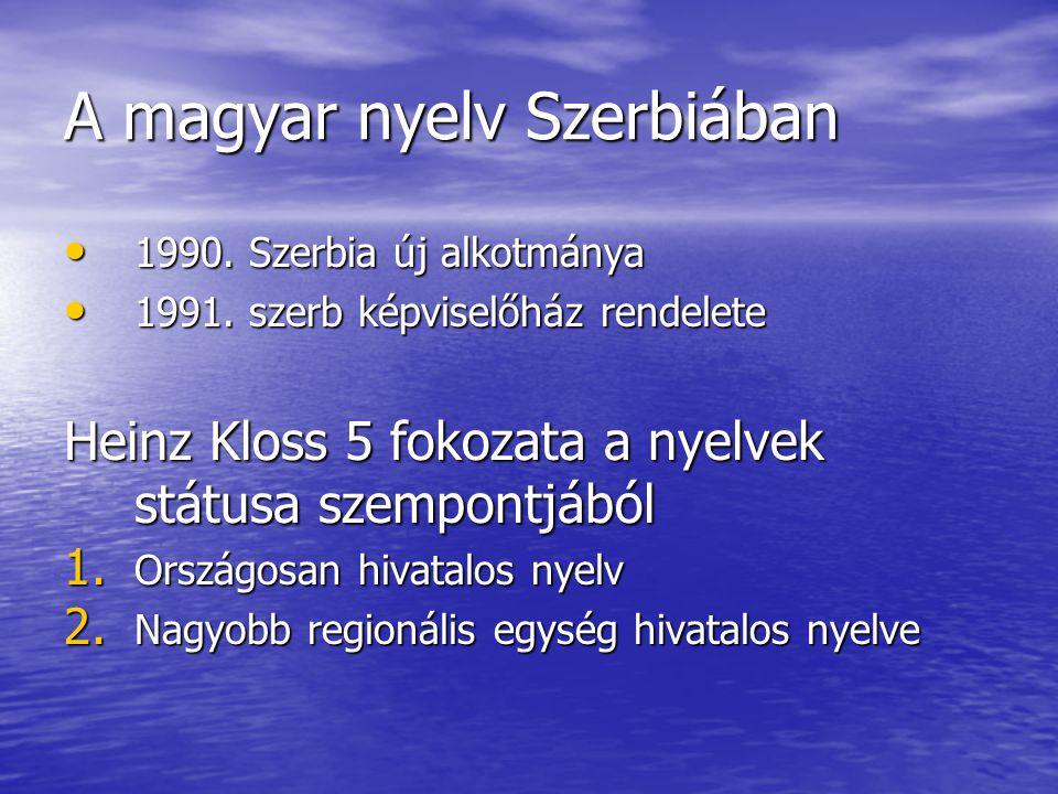 A magyar nyelv Szerbiában
