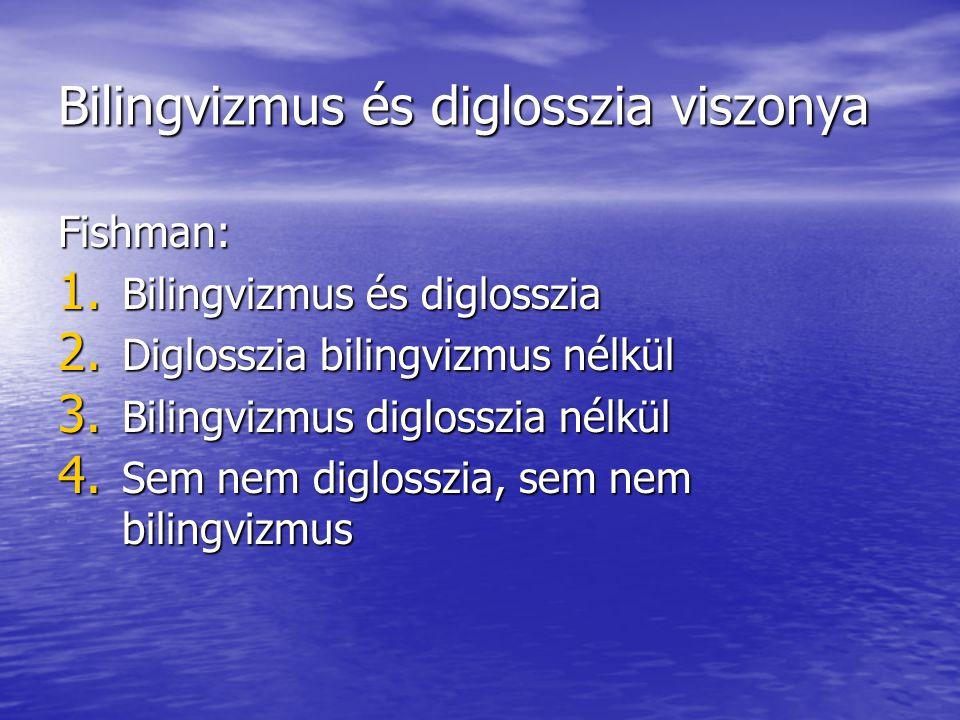 Bilingvizmus és diglosszia viszonya