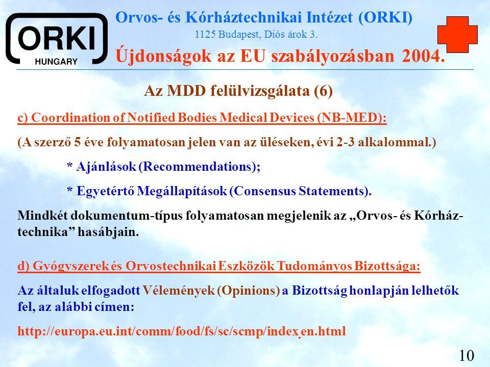 Az MDD felülvizsgálata (6)