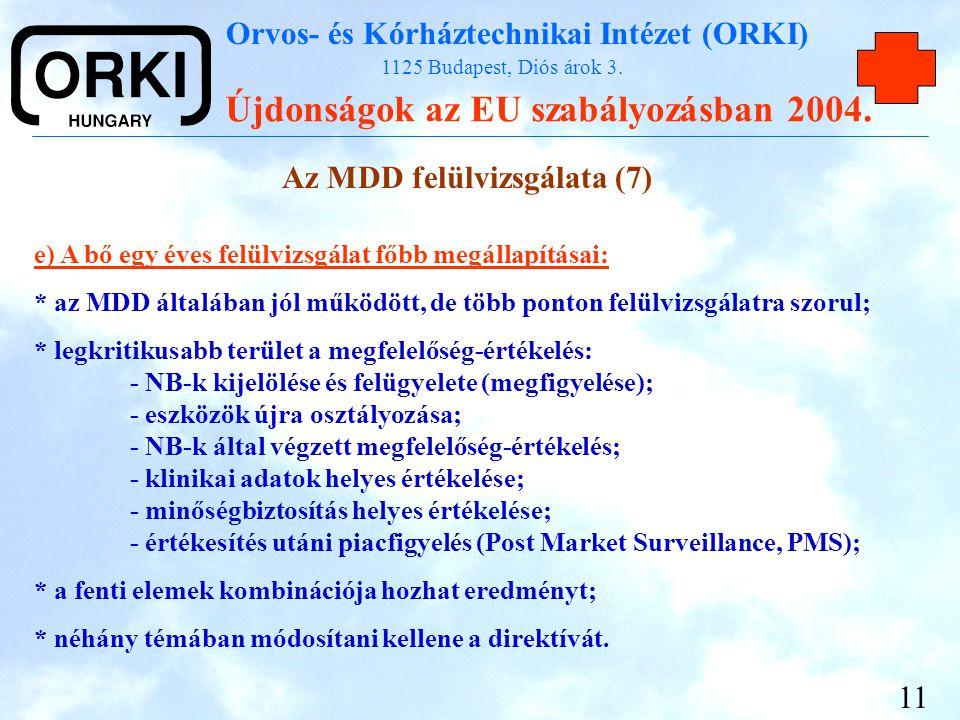 Az MDD felülvizsgálata (7)
