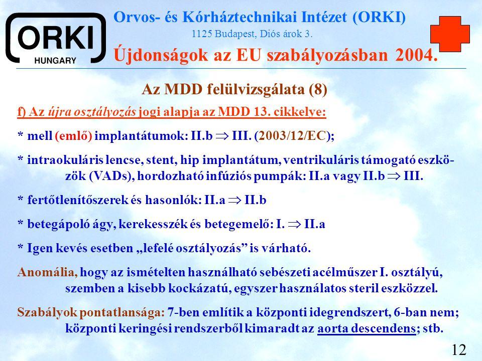 Az MDD felülvizsgálata (8)