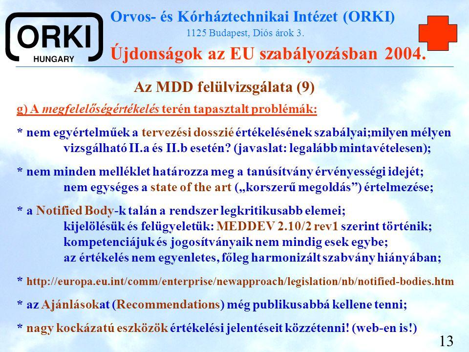 Az MDD felülvizsgálata (9)