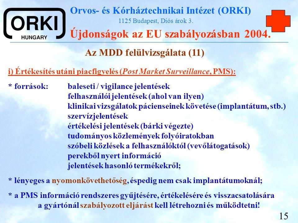 Az MDD felülvizsgálata (11)