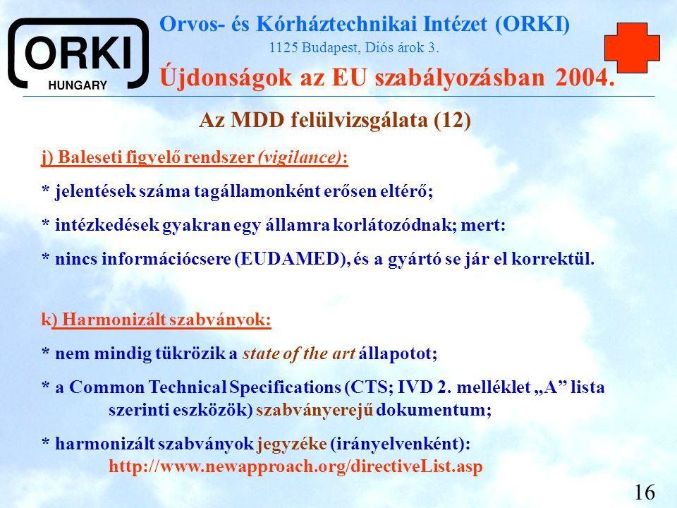 Az MDD felülvizsgálata (12)