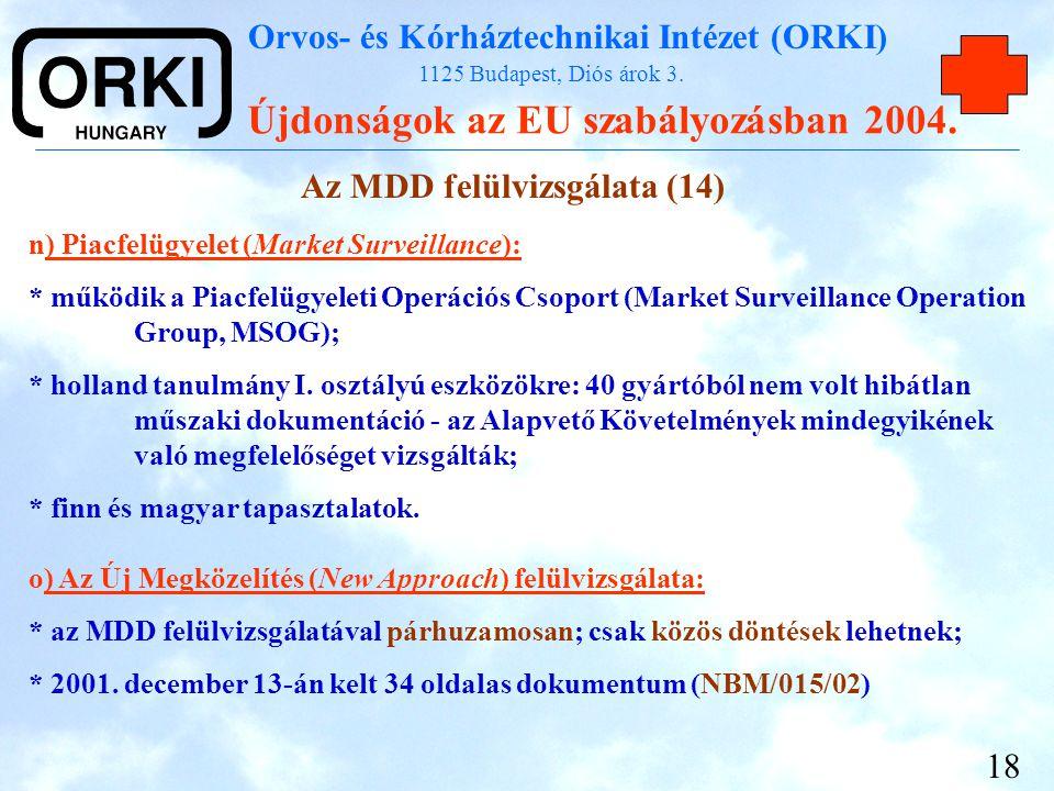 Az MDD felülvizsgálata (14)
