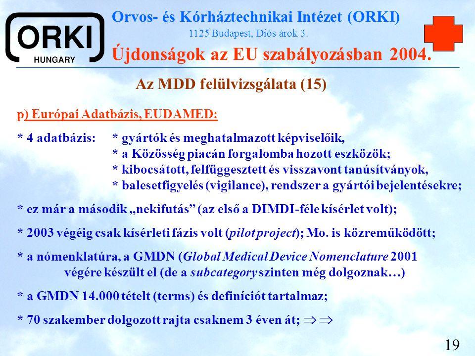 Az MDD felülvizsgálata (15)