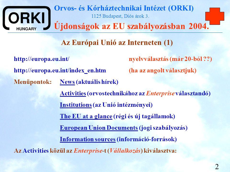 Az Európai Unió az Interneten (1)
