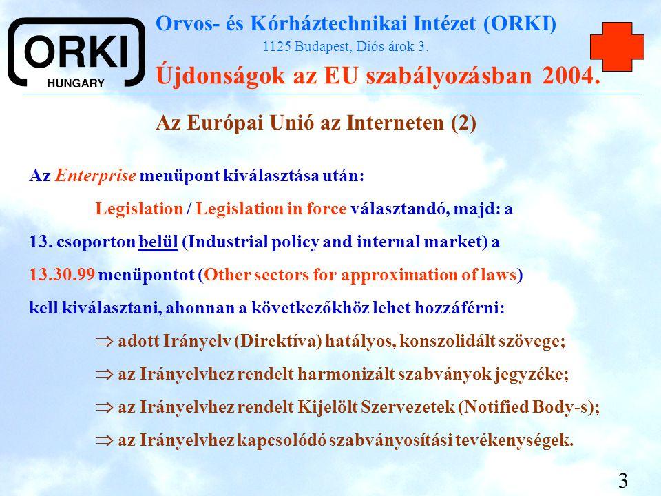Az Európai Unió az Interneten (2)