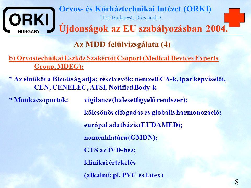 Az MDD felülvizsgálata (4)
