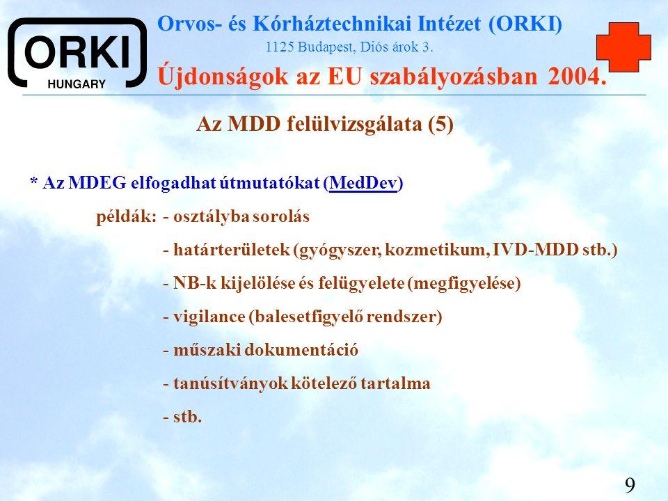 Az MDD felülvizsgálata (5)