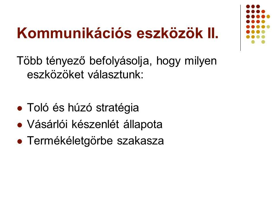 Kommunikációs eszközök II.