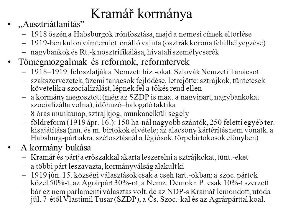 """Kramář kormánya """"Ausztriátlanítás"""
