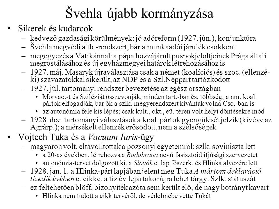 Švehla újabb kormányzása