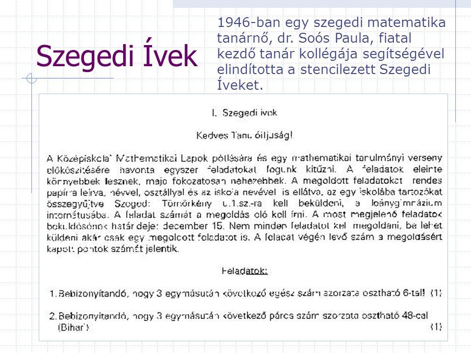1946-ban egy szegedi matematika tanárnő, dr