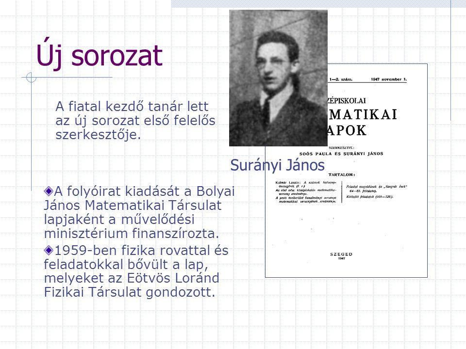 Új sorozat Surányi János