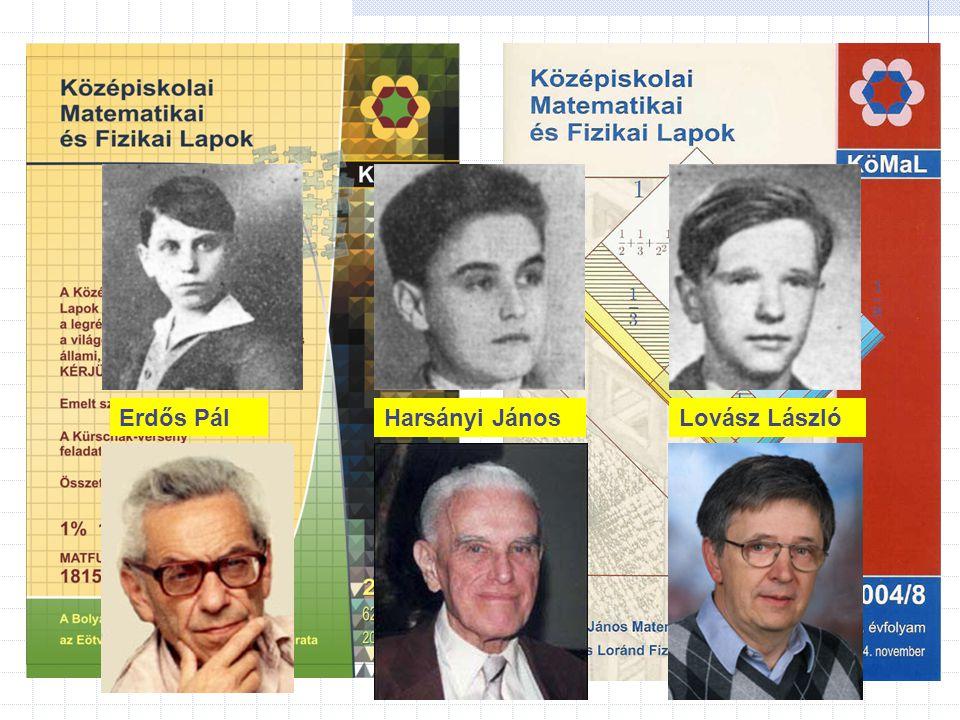 Erdős Pál Harsányi János Lovász László