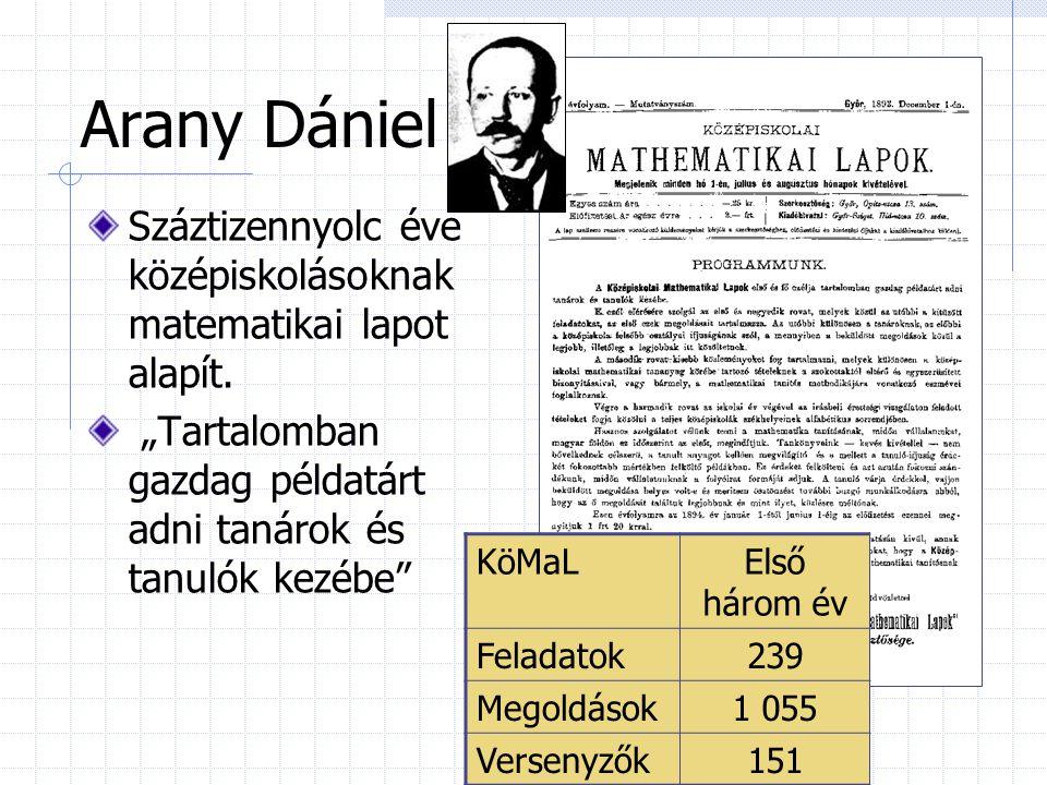 """Arany Dániel Száztizennyolc éve középiskolásoknak matematikai lapot alapít. """"Tartalomban gazdag példatárt adni tanárok és tanulók kezébe"""