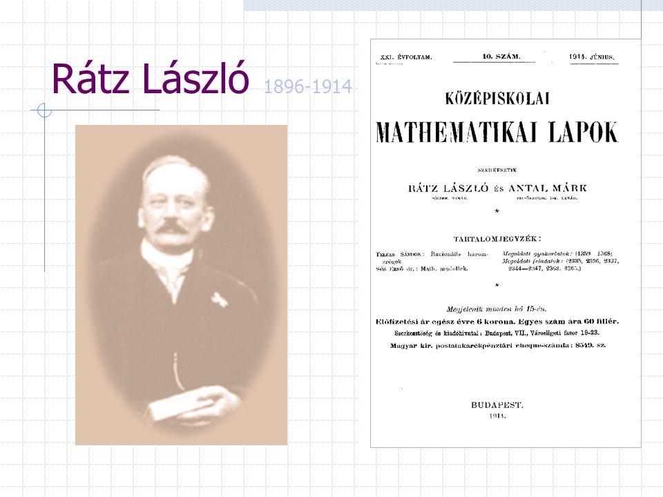 Rátz László 1896-1914