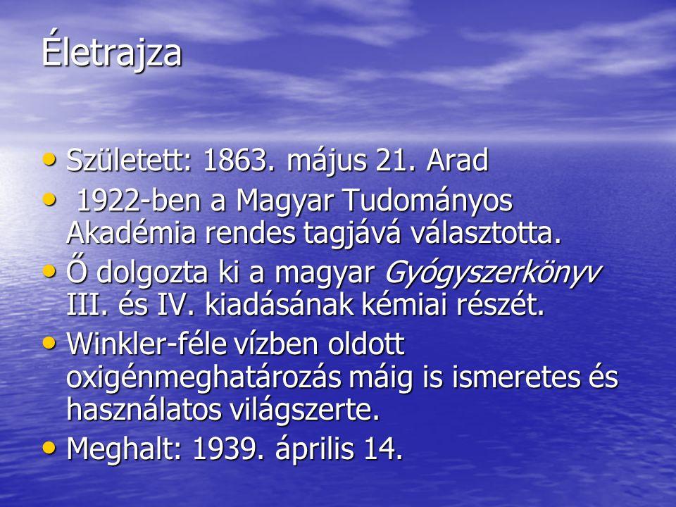 Életrajza Született: 1863. május 21. Arad