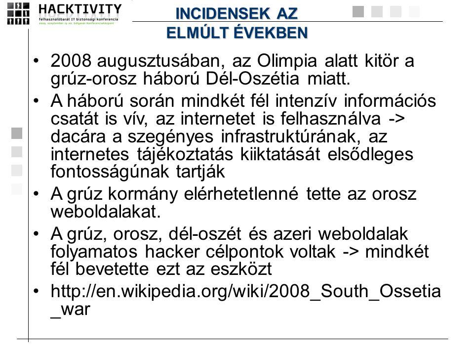 A grúz kormány elérhetetlenné tette az orosz weboldalakat.