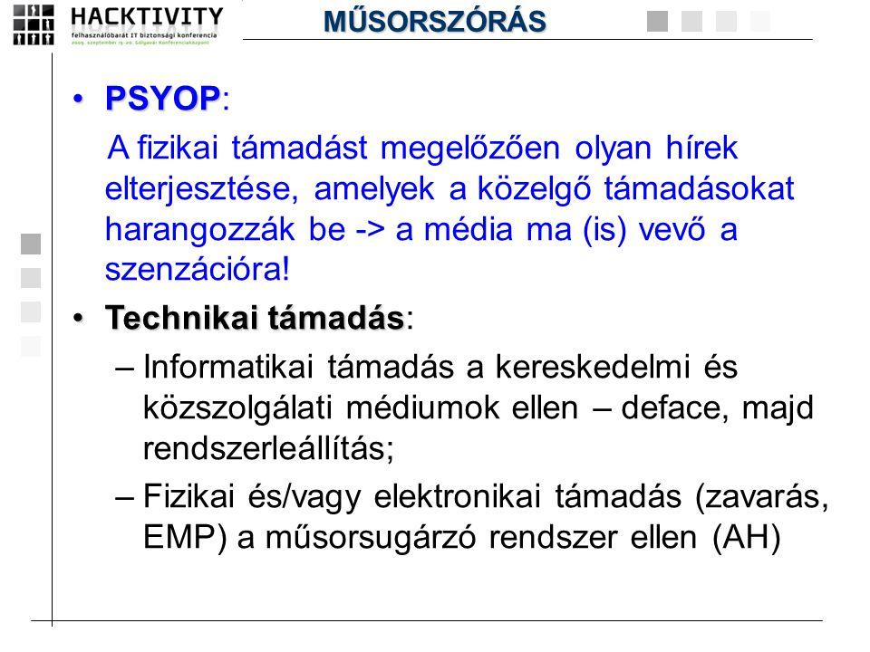 MŰSORSZÓRÁS PSYOP: