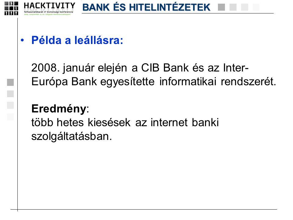 BANK ÉS HITELINTÉZETEK
