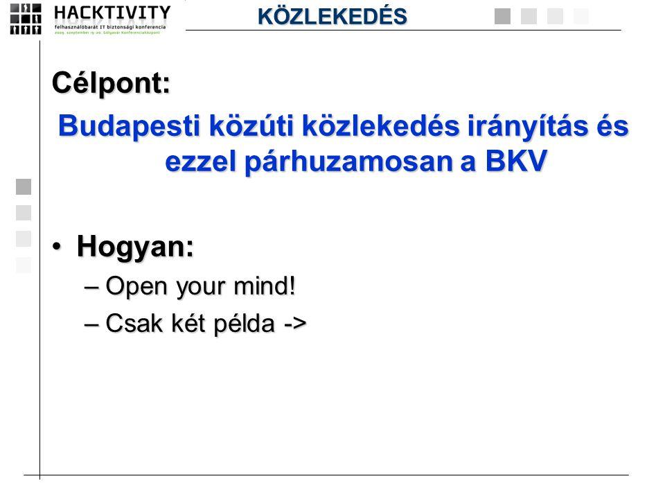 Budapesti közúti közlekedés irányítás és ezzel párhuzamosan a BKV