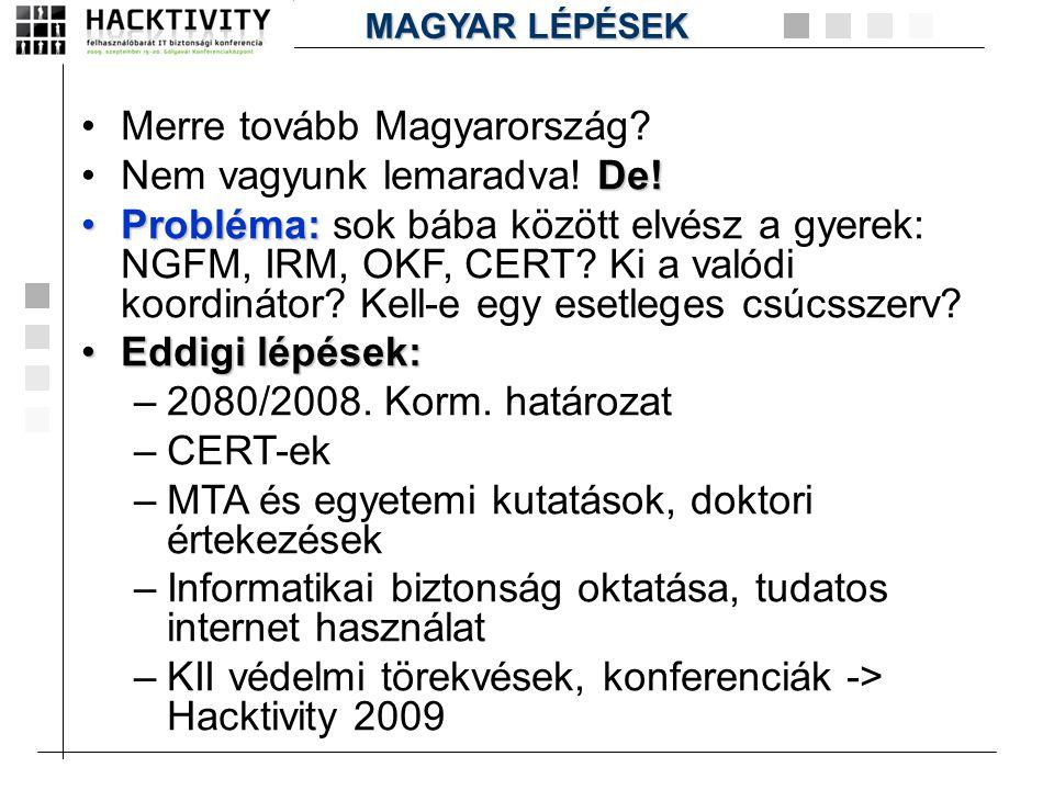 Merre tovább Magyarország Nem vagyunk lemaradva! De!