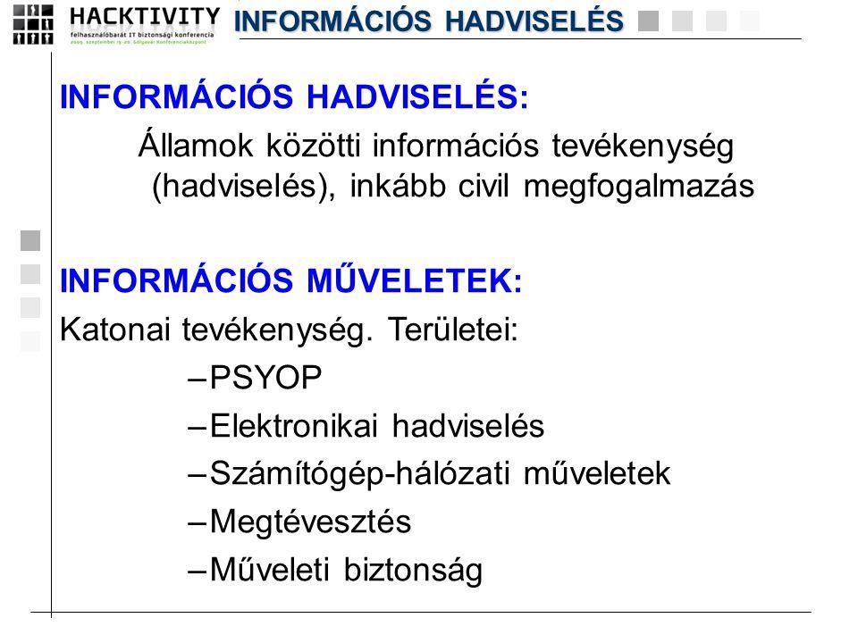 INFORMÁCIÓS HADVISELÉS