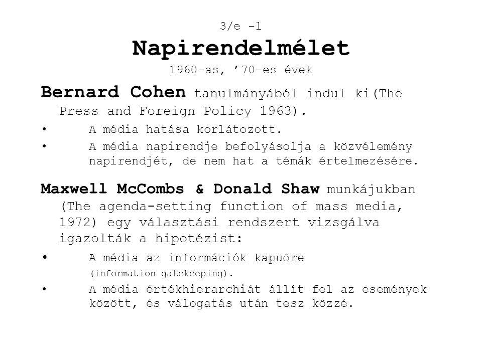3/e -1 Napirendelmélet 1960-as, '70-es évek