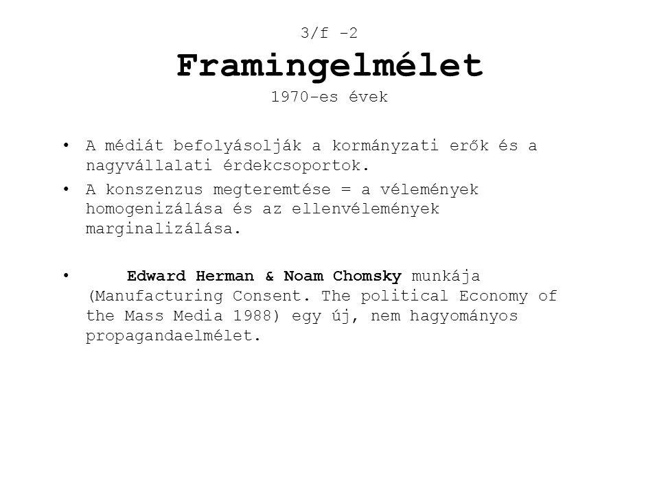 3/f -2 Framingelmélet 1970-es évek