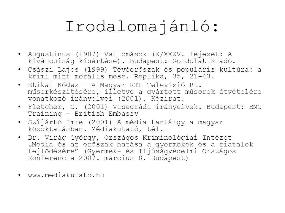 Irodalomajánló: Augustinus (1987) Vallomások (X/XXXV. fejezet: A kíváncsiság kísértése). Budapest: Gondolat Kiadó.