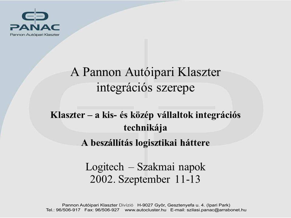 A Pannon Autóipari Klaszter integrációs szerepe