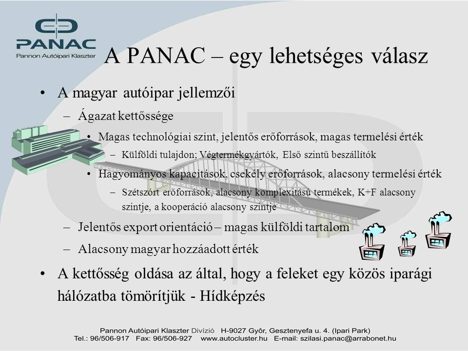 A PANAC – egy lehetséges válasz