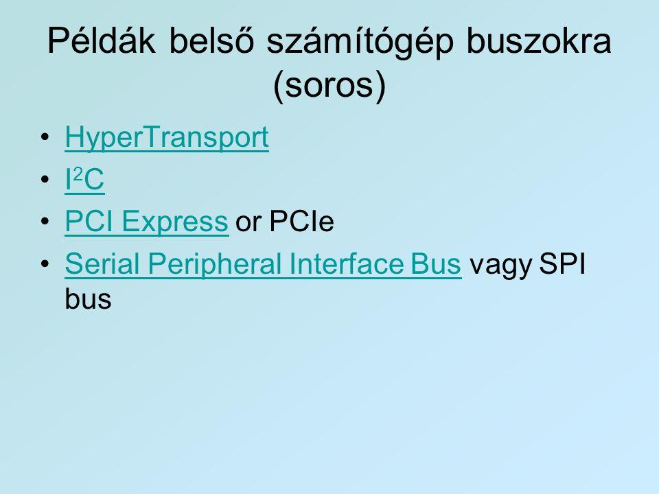 Példák belső számítógép buszokra (soros)