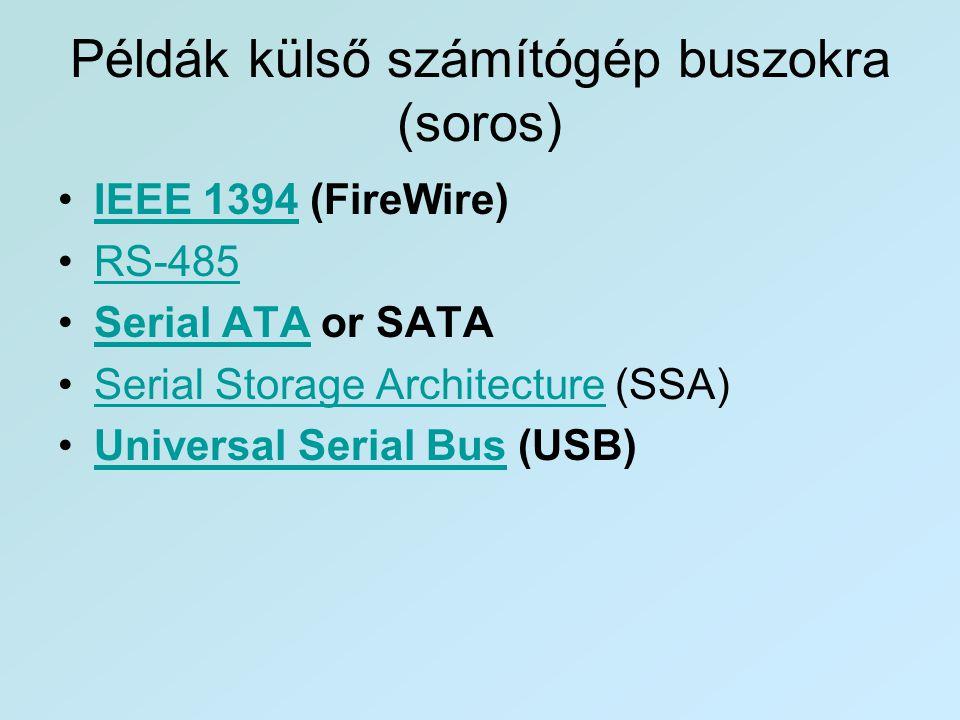 Példák külső számítógép buszokra (soros)