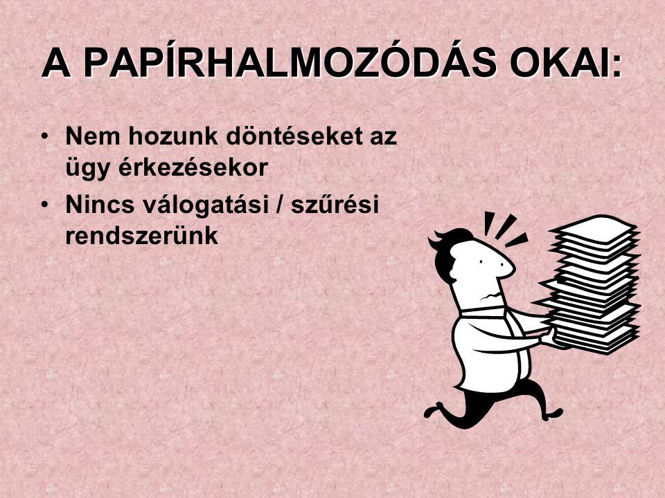 A PAPÍRHALMOZÓDÁS OKAI: