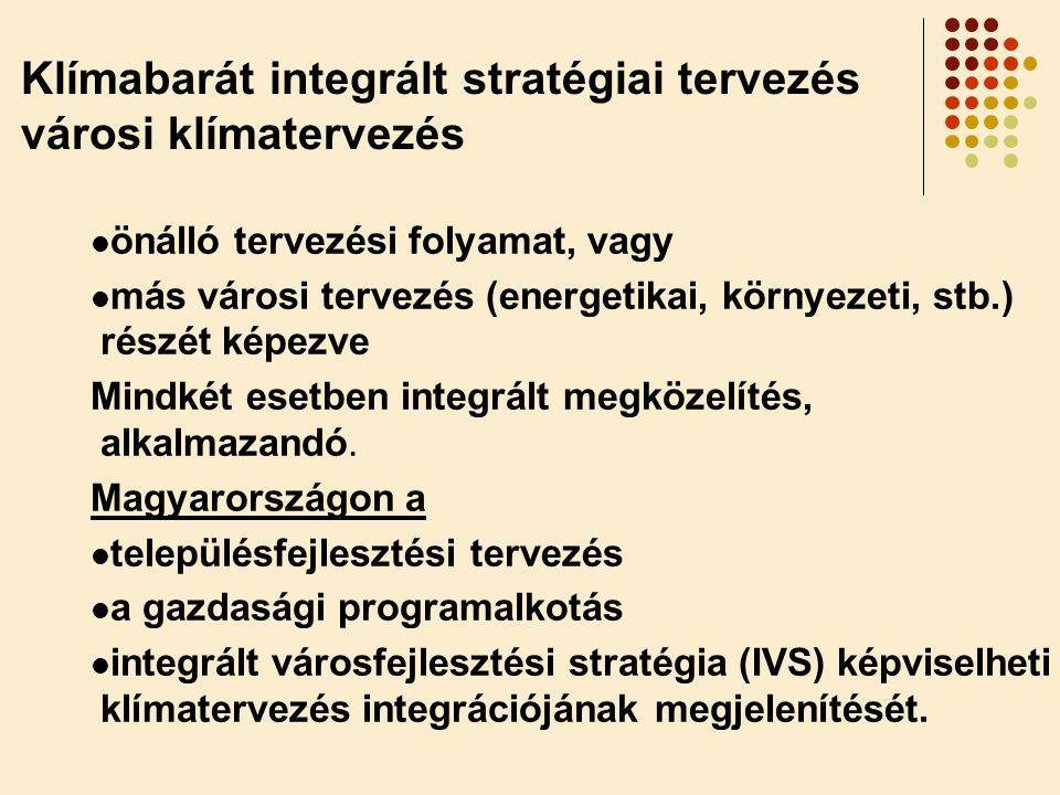 Klímabarát integrált stratégiai tervezés városi klímatervezés