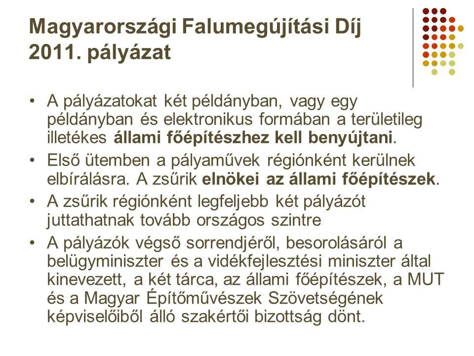 Magyarországi Falumegújítási Díj 2011. pályázat