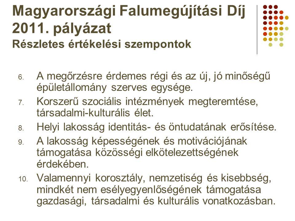 Magyarországi Falumegújítási Díj 2011